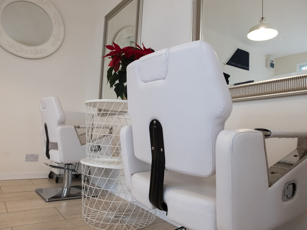 Back view of the hair dressing chairs at Ralph and Sydney Hair Salon